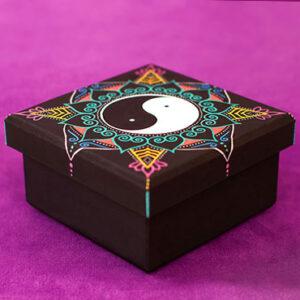 Metallic Yin Yang Mandala Box