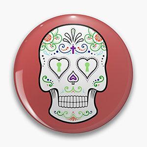 Mexican Calavera Pin Button