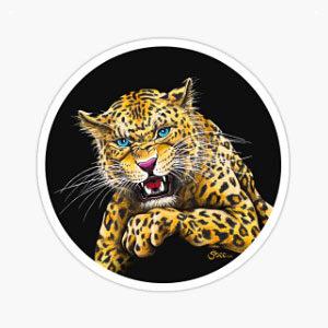 Leopard Roar Sticker
